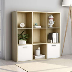 White Book-Cabinet-And Sonoma-Oak-Chipboard.jpg