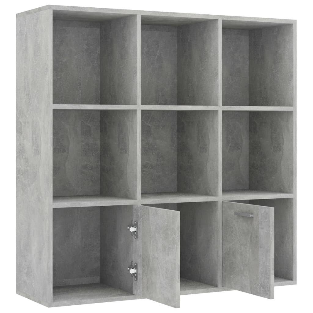 "Book Cabinet Concrete Gray 38.5""x11.8""x38.5"" Chipboard - HomeOffice4Us"