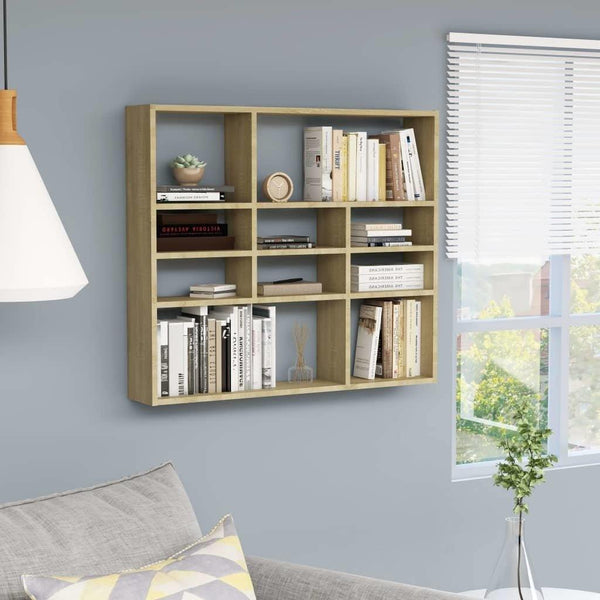 Sonoma Oak Chipboard Home Wall Shelf.jpg