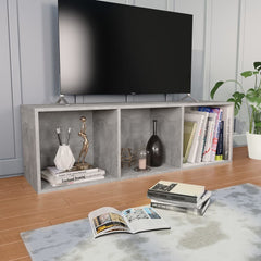 Concrete Gray Book Cabinet/TV Cabinet Chipboard
