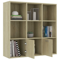 "Book Cabinet Sonoma Oak 38.5""x11.8""x38.5"" Chipboard - HomeOffice4Us"