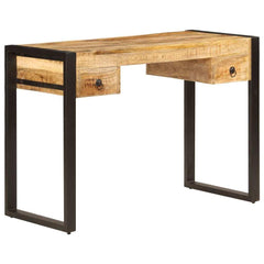 Solid Mango Wood Desk with 2 Drawers.jpg