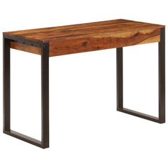 Solid Sheesham Wood and Steel Desk