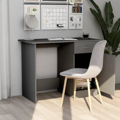 Compact Design Gray Chipboard Office Desk