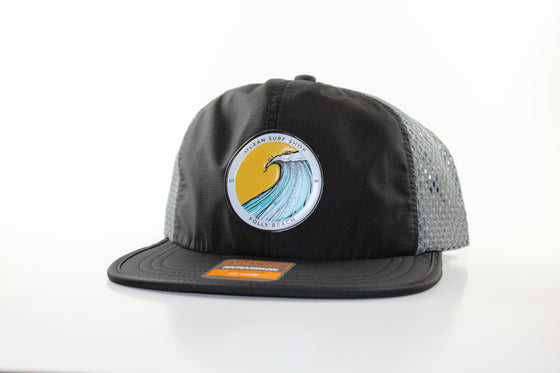 RICHARDSON 935 ROGUE POLY-PRESS WAVE LOGO HAT