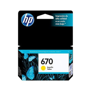 HP 670 Ink Cartridge - Yellow