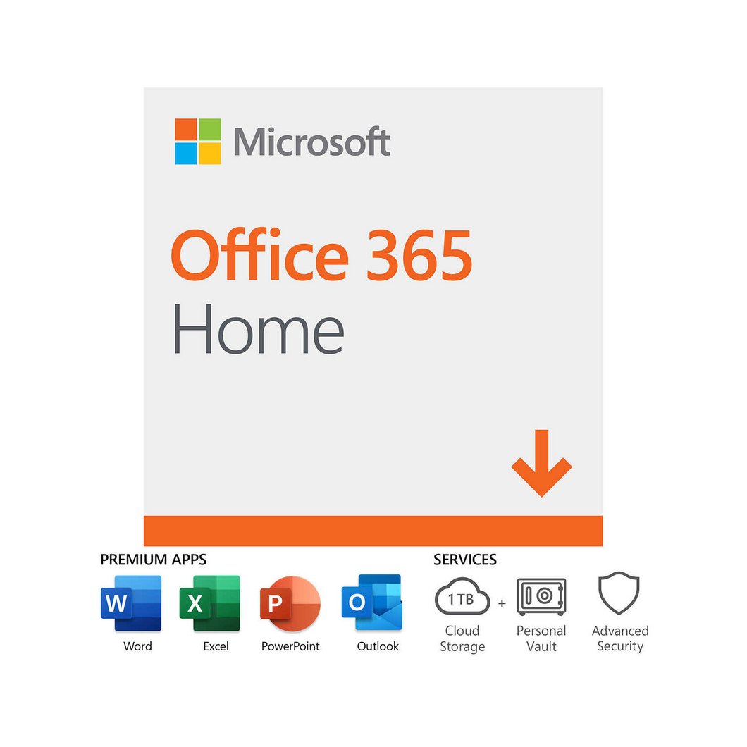 Microsoft Office 365 Home (1-Year License, 1 User)