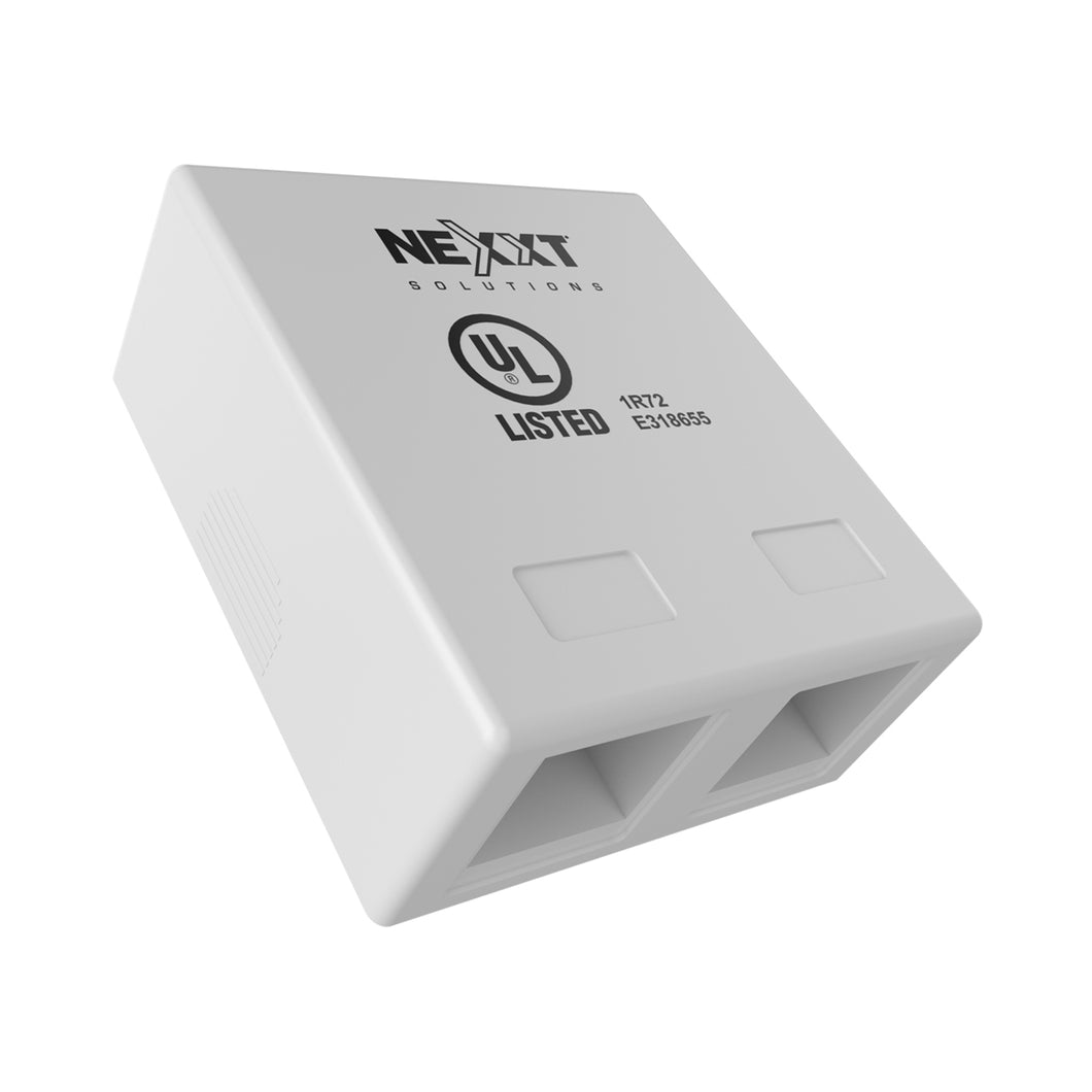 Nexxt Surface Mount Box 2 port