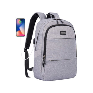 Rlandto Slim Laptop Backpack Gray