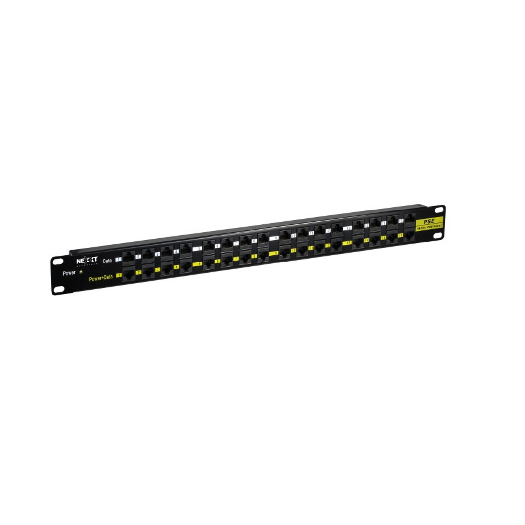 Nexxt Patch Panel 16 Port POE 48VDC 160W