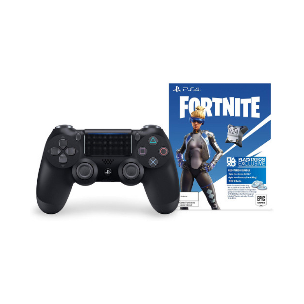 PS4 Wireless Controller with Exclusive Fortnite Content - Black