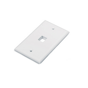 Nexxt Retail Wall Plate 1 Port White