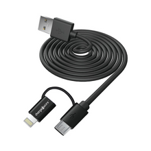 Load image into Gallery viewer, Charge Worx Dual Tip Cable (Charge, Sync, Lightning, MicroUSB)