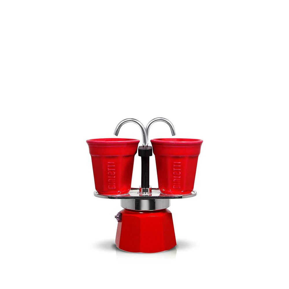 Bialetti Set Mini Express with 2 Cup Red