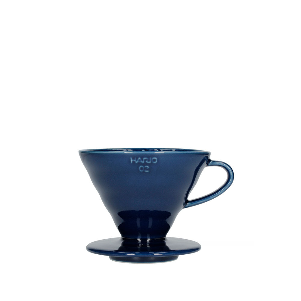 Hario V60 02 Ceramic Coffee Dripper Indigo Blue