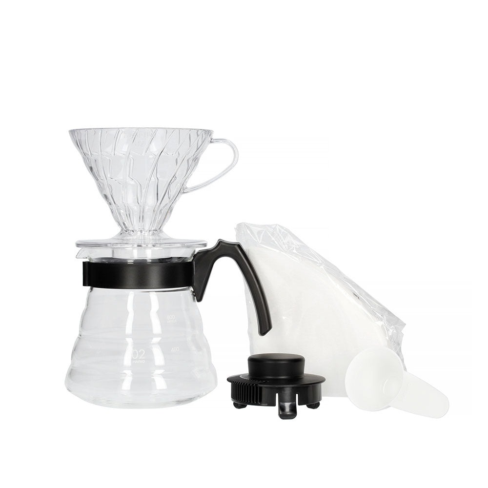 Load image into Gallery viewer, Hario V60 Pour Over Kit 02 Black