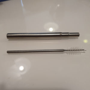 Stainless steel telescopic straw and brush