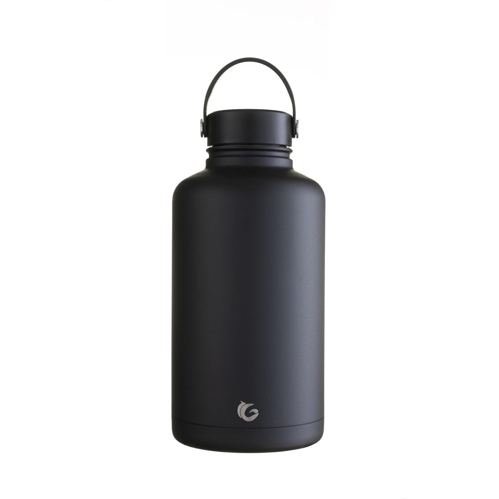 new 64oz / c.2 litre liquorice insulated epic bottle thermal canteen stainless steel lois logo