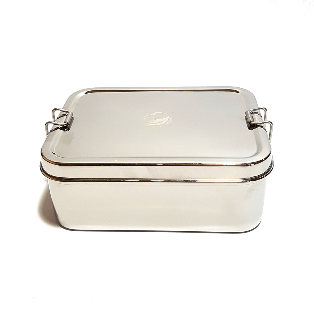 Large stainless steel lunchbox with mini