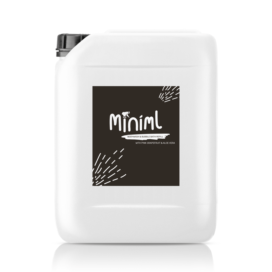 Miniml body wash & bubble bath refill - pink grapefruit & aloe vera (200g)
