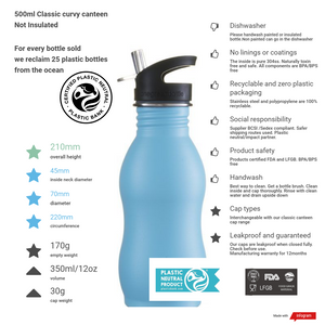 500ml sage green stainless steel bottle powder coated