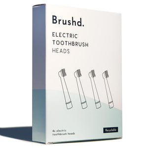 Recyclable electric toothbrush heads (pack of 4)