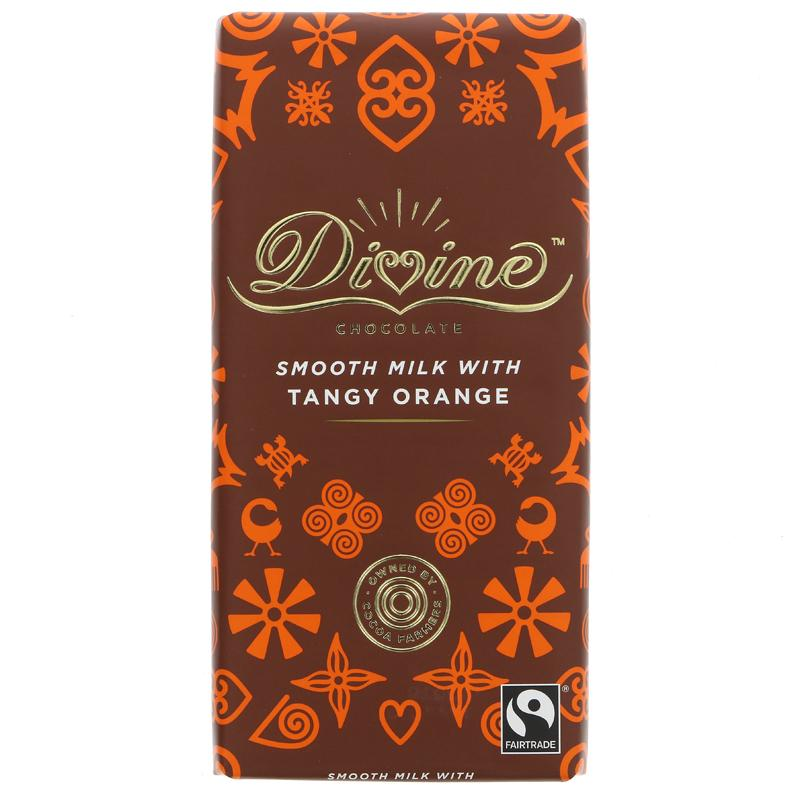 Divine smooth milk chocolate with tangy orange (90g)