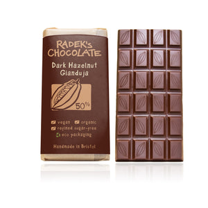 Dark Gianduja hazelnut bar (85g)