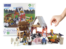 Load image into Gallery viewer, Farmyard eco friendly toy playset