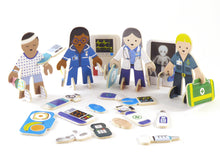 Load image into Gallery viewer, Doctor and nurse eco friendly playset