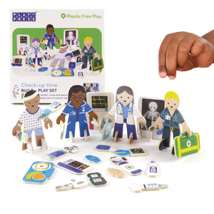 Doctor and nurse eco friendly playset