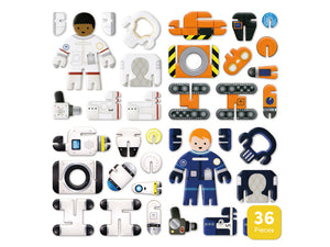 Astronauts and robots eco friendly playset