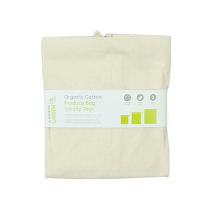 Organic cotton produce bags variety pack - set of 3