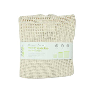 Organic cotton mesh produce bags variety pack - set of 3