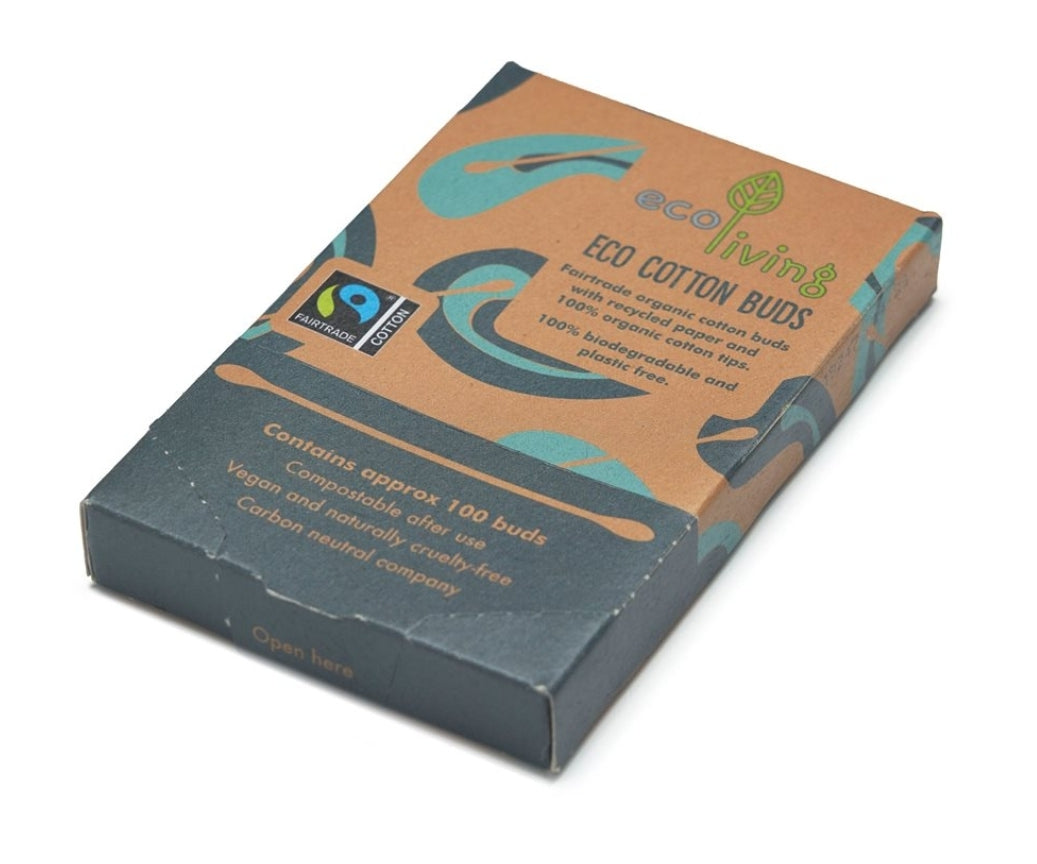 Organic fairtrade cotton buds (100) (FSC mix 70%)