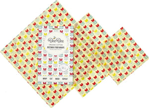 BeeBee wax wraps (set of 3)