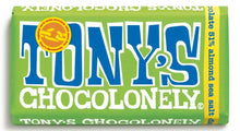 Load image into Gallery viewer, Tony's Chocolonely dark chocolate almond sea salt 51% (180g)