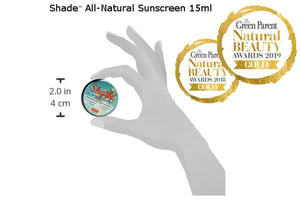 SHADE™ all-natural sunscreen- SPF25, unscented, broad spectrum (UVA1, UVA2, UVB), toxin free, organic, zero waste, all skin-types