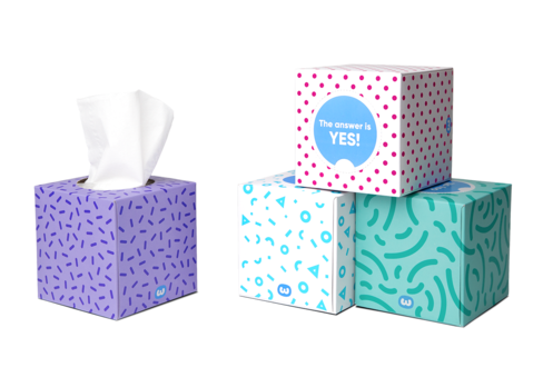 Forest friendly tissues, WGAC (single box, 65 tissues)
