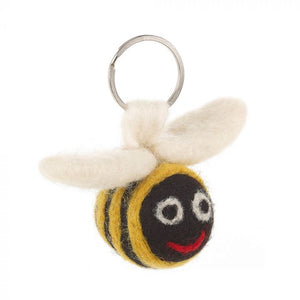 Handmade Needle Felt Fair Trade Bee Keyring