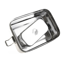 Load image into Gallery viewer, Large stainless steel lunchbox with mini