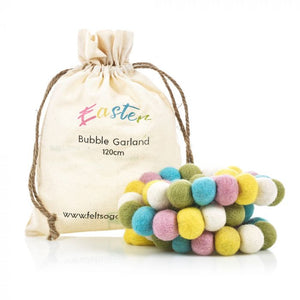 Handmade Biodegradable Felt Easter Bubble Garland Home Decoration