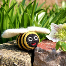 Load image into Gallery viewer, Handmade Biodegradable Big Bumblebee Hanging Needle Felt Decoration