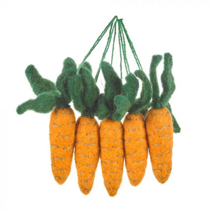 Handmade Hanging Carrots (Bag of 5) Biodegradable Hanging Easter Decoration