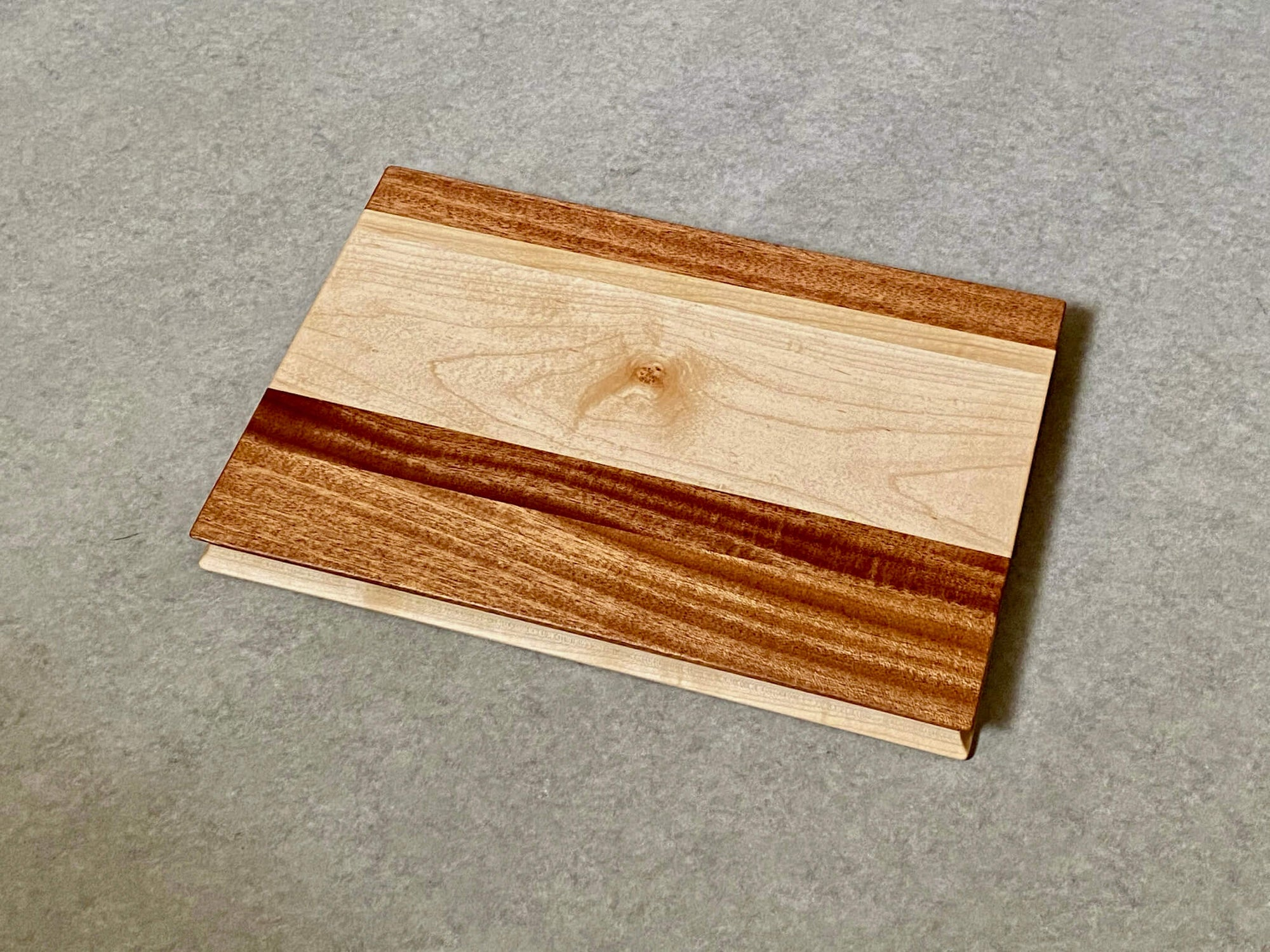 Colorblock III Board in Maple and Mahogany
