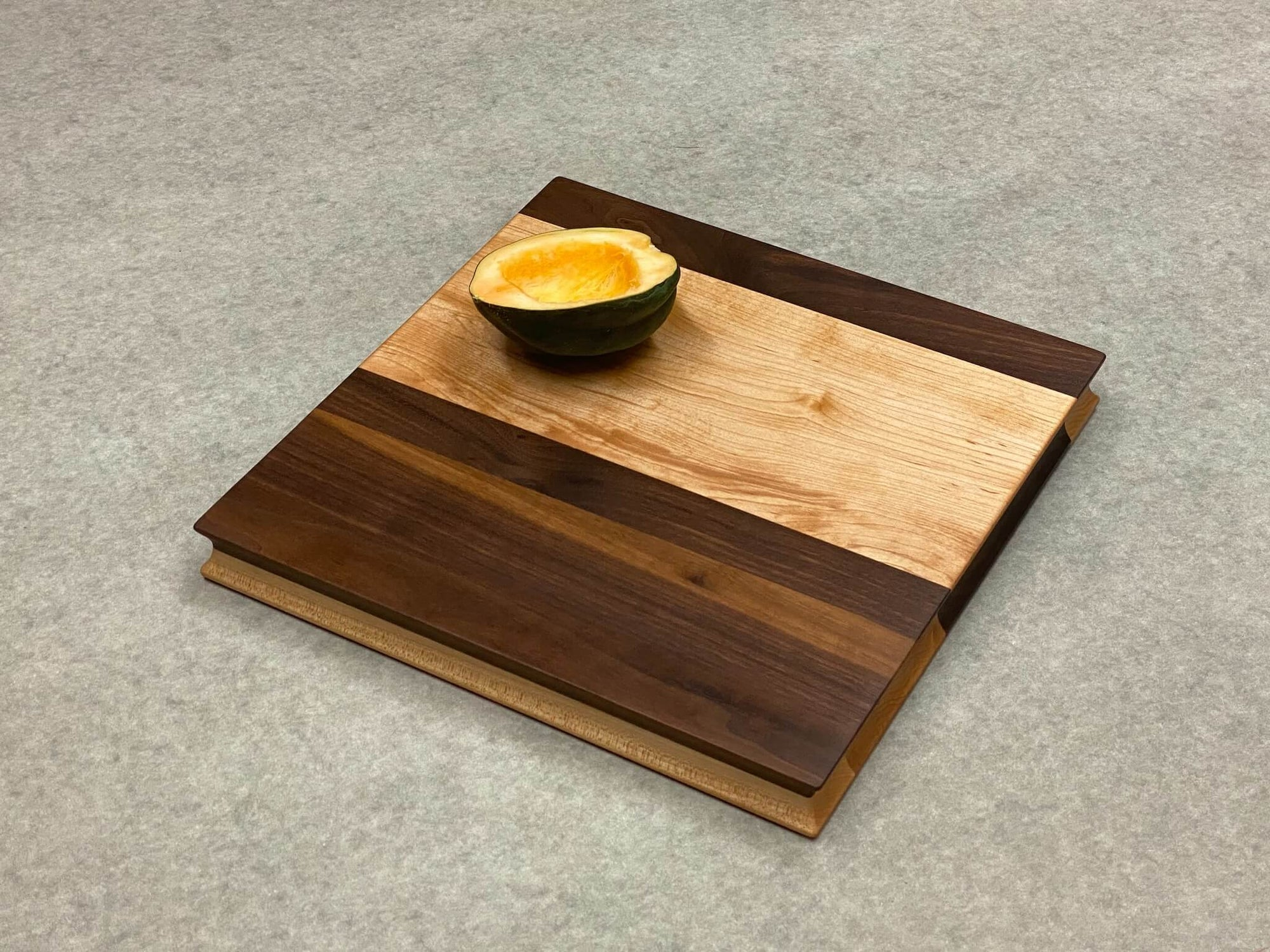 Colorblock Square Board in Walnut and Maple