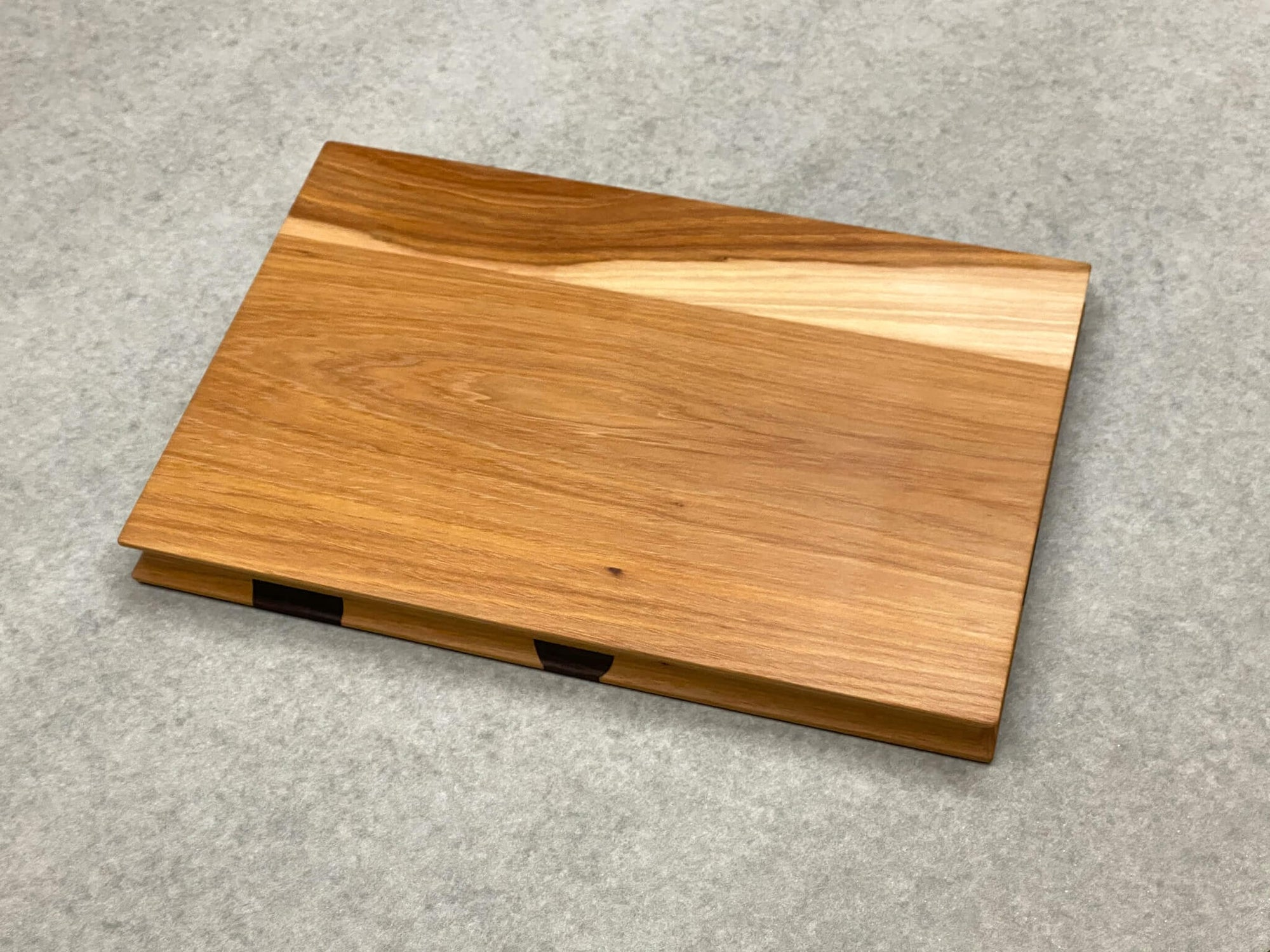 Doubles Rectangle Board with Polka Dots in Hickory and Walnut