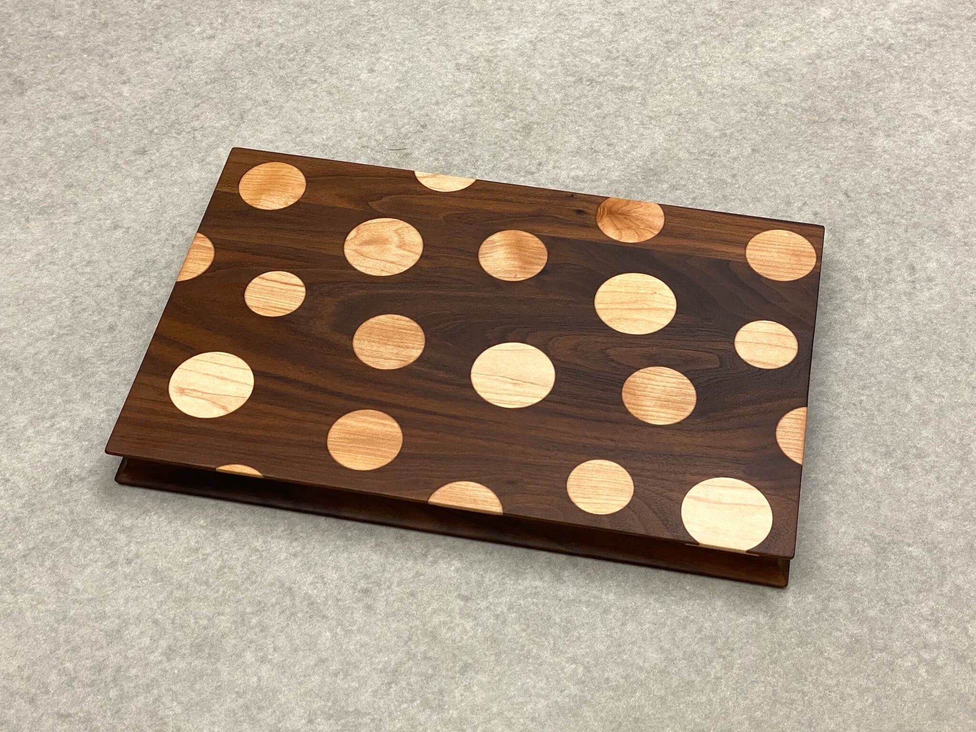 Doubles Rectangle with Polka Dots in Walnut and Maple