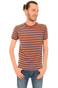 Burgandy Striped T Shirt