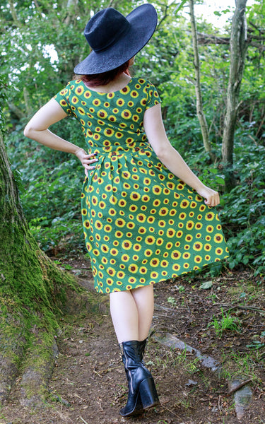Bee a Sunflower Belted Tea Dress with Pockets 🌻 🐝